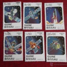 Timbres: GUINEA BISSAU. 187/192 DÍA DE LA ASTRONÁUTICA: DIFERENTES INGENIOS ESPACIALES. 1983. SELLOS USADOS . Lote 53277867