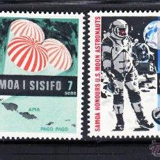 Sellos: SAMOA 249/50** - AÑO 1969 - CONQUISTA DEL ESPACIO - EL HOMBRE EN LA LUNA. Lote 269748708