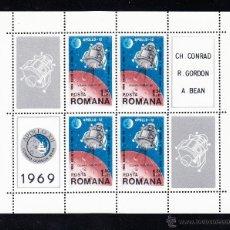 Sellos: RUMANIA HB 74** - AÑO 1969 - CONQUISTA DEL ESPACIO - APOLO 12. Lote 54685791