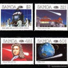 Sellos: SAMOA 1986 IVERT 603/6 *** PASO DEL COMETA HALLEY - CONQUISTA DEL ESPACIO. Lote 55668030