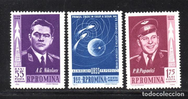 RUMANÍA AÉREO 157/59** - AÑO 1962 - CONQUISTA DEL ESPACIO - VOSTOK 3 Y 4 (Sellos - Temáticas - Conquista del Espacio)