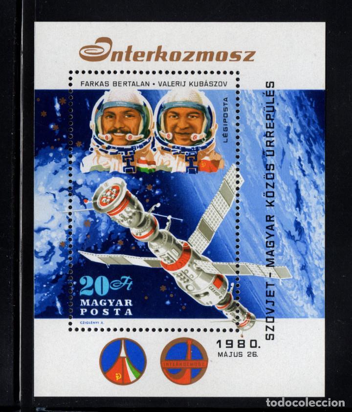 HUNGRÍA HB 146** - AÑO 1980 - CONQUISTA DEL ESPACIO - PROGRAMA INTERCOSMOS (Sellos - Temáticas - Conquista del Espacio)