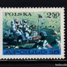 Sellos: POLONIA 1969** - AÑO 1971 - CONQUISTA DEL ESPACIO - APOLO 15. Lote 80065349