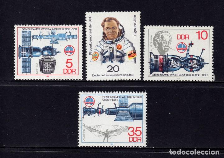 ALEMANIA ORIENTAL 2028/31** - AÑO 1978 - CONQUISTA DEL ESPACIO - COOPERACION ESPACIAL URSS - RDA (Sellos - Temáticas - Conquista del Espacio)