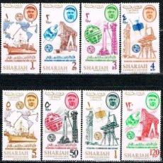 Sellos: SHARJAH (EMIRATOS ARABES) 183/,90, SATELITES,CENTENARIO UNION INTERNACIONAL DE COMUNICACIONES, NUEVO. Lote 117804218