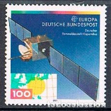 Sellos: ALEMANIA IVERT Nº 1359, EUROPA 1991: ESPACIO, SATELITE DE TELECOMUNICACIONES COPERNICO, NUEVO ***. Lote 93377250