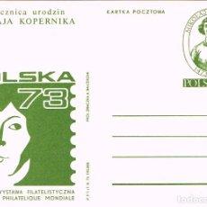 Sellos: POLONIA, 5º CENTENARIO DE KOPERNICO, ENTERO POSTAL DEL AÑO 1973 IV. Lote 94033290