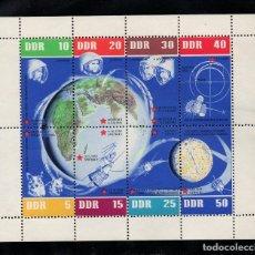 Sellos: ALEMANIA ORIENTAL HB 12** - AÑO 1962 - 5º ANIVERSARIO DE LOS VUELOS ESPACIALES SOVIETICOS. Lote 94107020