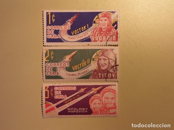 CUBA - CONQUISTA DEL ESPACIO - VOSTOK I, VOSTOK II Y VOSTOK III Y IV. (Sellos - Temáticas - Conquista del Espacio)