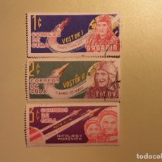 Sellos: CUBA - CONQUISTA DEL ESPACIO - VOSTOK I, VOSTOK II Y VOSTOK III Y IV.. Lote 94742415