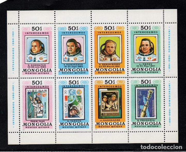 MONGOLIA HB 83** - AÑO 1981 - CONQUISTA DEL ESPACIO - PROGRAMA INTERCOSMOS - ASTRONAUTAS (Sellos - Temáticas - Conquista del Espacio)