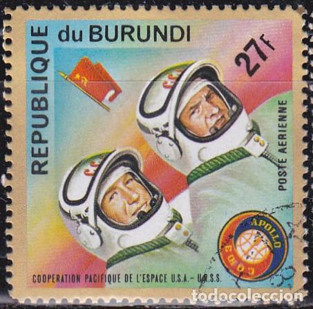1975 - BURUNDI - COOPERACION ESPACIAL USA-URSS - APOLO SOYUZ - LEONOV / KUBASOV - YVERT 360 PA (Sellos - Temáticas - Conquista del Espacio)