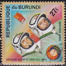 Sellos: 1975 - BURUNDI - COOPERACION ESPACIAL USA-URSS - APOLO SOYUZ - LEONOV / KUBASOV - YVERT 360 PA. Lote 100282239