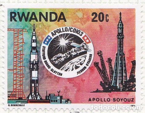 1976 - RWANDA - MISION ESPACIAL USA URSS APOLO-SOYUZ - YVERT 745 (Sellos - Temáticas - Conquista del Espacio)