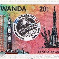 Sellos: 1976 - RWANDA - MISION ESPACIAL USA URSS APOLO-SOYUZ - YVERT 745. Lote 100507167
