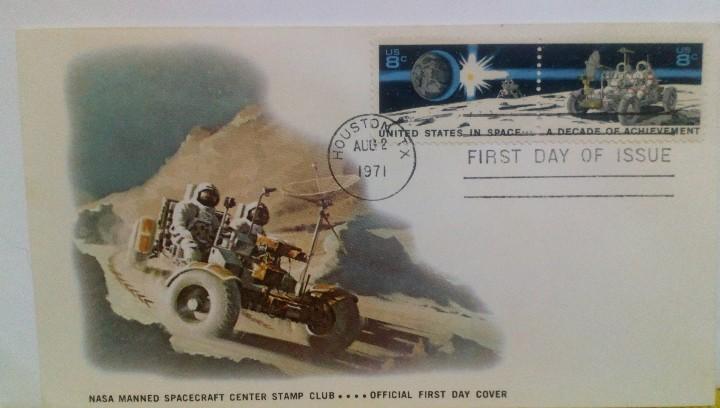 SOBRE 1 ER DIA EMISIÓN USA UNA DÉCADA DE LOGROS EN EL ESPACIO 1971 NASA ASTROFILATELIA (Sellos - Temáticas - Conquista del Espacio)