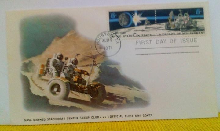Sellos: SOBRE 1 ER DIA EMISIÓN USA UNA DÉCADA DE LOGROS EN EL ESPACIO 1971 NASA ASTROFILATELIA - Foto 2 - 103952263