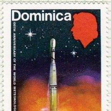 Sellos: 1973 - DOMINICA - CENTENARIO DE LA ORGANIZACION METEREOLOGICA MUNDIAL - YVERT 348. Lote 105937451