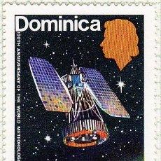 Sellos: 1973 - DOMINICA - CENTENARIO DE LA ORGANIZACION METEOREOLOGICA MUNDIAL - YVERT 349. Lote 105937575