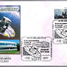 Sellos: MATASELLOS ASTROFISICA: SONDA ESPACIAL GAIA. HEIDELBERG, ALEMANIA, 2017. Lote 109305899