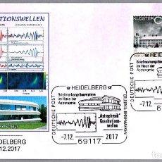 Sellos: MATASELLOS ASTROFISICA: ONDAS GRAVITACIONALES. HEIDELBERG, ALEMANIA, 2017. Lote 109305983