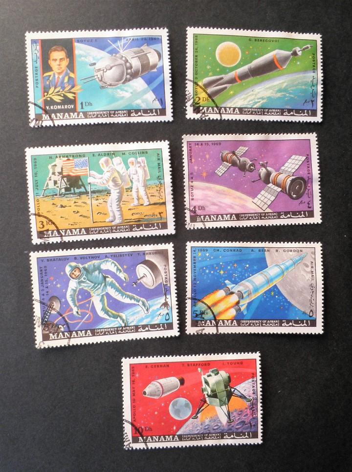 SERIE COMPLETA 1970 MANAMA PROGRAMA SOYUZ Y APOLO (Sellos - Temáticas - Conquista del Espacio)