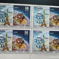 Sellos: BRASIL AÑO 1969 Nº YVERT 907 BLOQUE DE CUATRO SELLOS NUEVOS. Lote 112520251