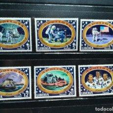 Sellos: LIBERIA AÑO 1971 Nº YVERT 520-25 APOLO 14 TERCER ALUNIZAJE SELLOS NUEVOS. Lote 112983323