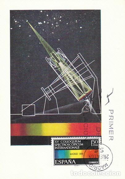 EDIFIL 1924, XV COLLOQUIUM SPECTROSCOPICUM INTERNATIONALE, TARJETA MAXIMA DE PRIMER DIA DE 29-5-1969 (Sellos - Temáticas - Conquista del Espacio)