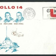 Sellos: UNITED NATIONS USA APOLLO 14 FEB 9 1971 KENNEDY SPACE CENTER NASA. Lote 118759903