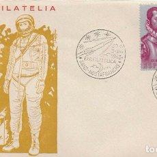 Sellos: AÑO 1963, ASTROFILATELIA EN SANS HOSTAFRANCHS EN SOBRE OFICIAL ASTRONAUTA . Lote 119445543