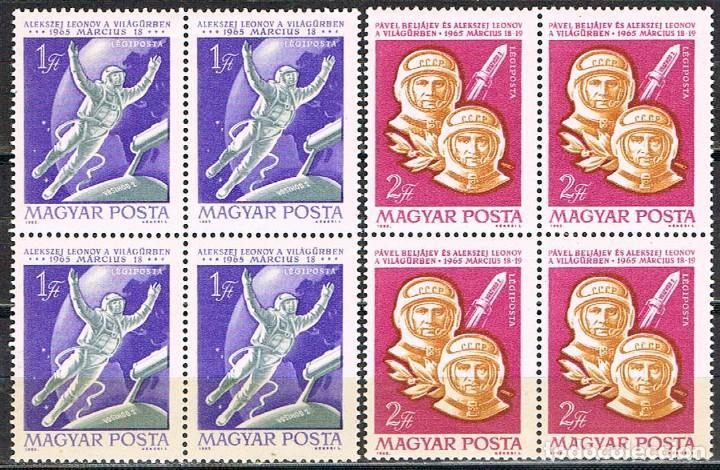 HUNGRIA 2143/4, LANZAMIENTO DE VOSHOD II, P.BELIAJEV Y A.LEONOV CON LA VOSHOL II, NUEVO *** EN BLOQU (Sellos - Temáticas - Conquista del Espacio)