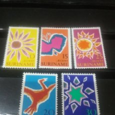 Sellos: SELLOS R. SURINAM (SURINAME) NUEVOS. 1970. NATURALEZA. ARTE. MARIPOSA. SOL. ESTRELLA. AVES. FLORA. P. Lote 130904228