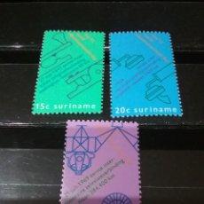 Sellos: SELLOS R. SURINAM (SURINAME) NUEVOS. 1971. ALUNIZAJE. NAVE. MODULA. TELEFONO. TELEGRAFO.COMUNICACION. Lote 130942277