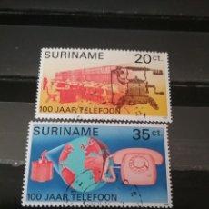 Sellos: SELLOS R. SURINAM (SURINAME) MTDOS. 1976. TELEFONO. SATELITE. GLOBO TERRAQUEO. COMUNICACIONES. CENTR. Lote 131157621