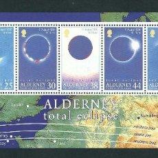 Sellos: ALDERNEY 1999 Y&T HB 6 ECLIPSE TOTAL. Lote 132395022