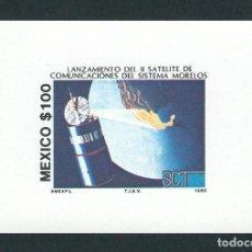 Sellos: MEJICO 1985 2º SATÉLITE DE COMUNICACIONES SISTEMA MORELOS. Lote 133654490