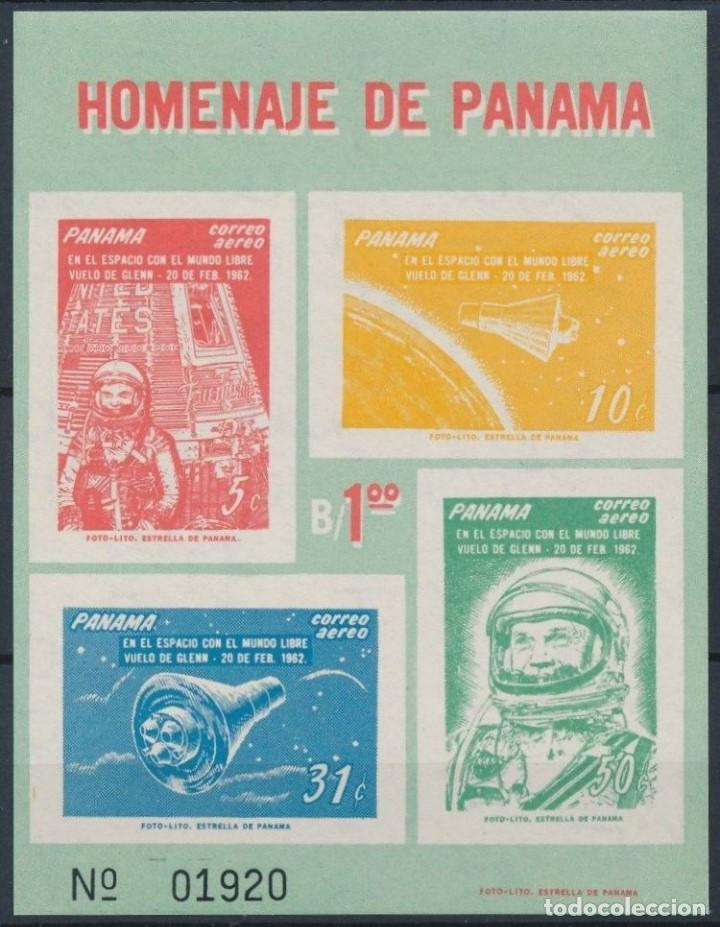 SELLOS PANAMA 1962 GLENN 20 DE FEB 1962 (Sellos - Temáticas - Conquista del Espacio)