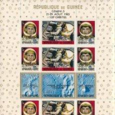 Sellos: REPUBLICA DE GUINEA 1965 GEMINI 5 120 ORBITAS 21-29 AGOSTO 1965. Lote 135762274