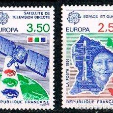 Sellos: FRANCI Nº 2696/7, EUROPA Y EL ESPACIO, NUEVO *** (SERIE COMPLETA). Lote 140024446