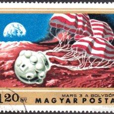 Sellos: 1974 - HUNGRIA - EXPLORACION DE MARTE - MARS III URSS - YVERT 2361. Lote 141108458