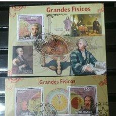Sellos: HB R. GUINEA-BISSAU MTDAS/2009/CIENCIA, GRANDES FISICOS/GLOBO TERRAQUEO/SISTEMASOLAR/EINSTEIN/NEWTON. Lote 143221653