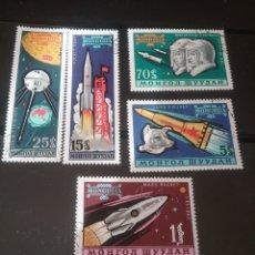 Sellos: SELLOS R. MONGOLIA MTDOS/1963/VULOS ESPACIO/ASTRONAUTAS/NAVES/PERRO/COHETES/SATELITES/LANZADERA/. Lote 143270177