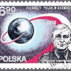 Sellos: 1978 - POLONIA - MIROSLAW HERMASZEWSKI - SOYUZ 30 - YVERT 2391. Lote 143742246
