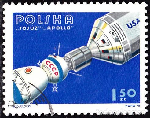 1975 - POLONIA - COOPERACION ESPACIAL USA/URSS - APOLO/SOYUZ - YVERT 2225 (Sellos - Temáticas - Conquista del Espacio)