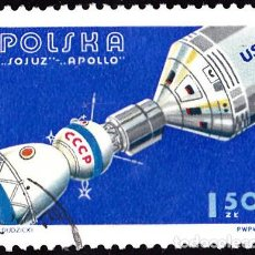 Sellos: 1975 - POLONIA - COOPERACION ESPACIAL USA/URSS - APOLO/SOYUZ - YVERT 2225. Lote 144015998