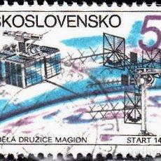 Sellos: 1980 - CHECOSLOVAQUIA - INTERCOSMOS - COOPERACION ESPACIAL URSS - SATELITE MAGNON - YVERT 2390. Lote 144641570
