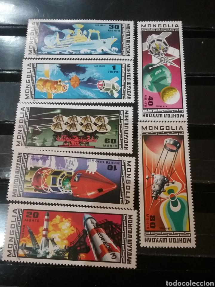 SELLOS R. MONGOLIA NUEVOS/1977/11 ANIV. DEL PROGRAMA INTERCOSMOS/ESPACIO/SATELITE/NAVES/ASTRONAUTAS/ (Sellos - Temáticas - Conquista del Espacio)