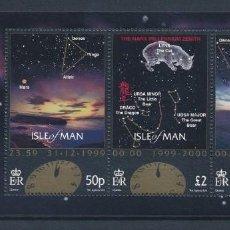 Sellos: SELLOS ISLE OF MAN 2000 NUEVO MILENIO ESPACIO . Lote 145878118