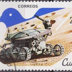 Sellos: 1982 - CUBA - FLORES - CONFERENCIA EXPLORACION Y PAZ - LUNOKHOD 1 USRR 1970 - YVERT 2356. Lote 148669386